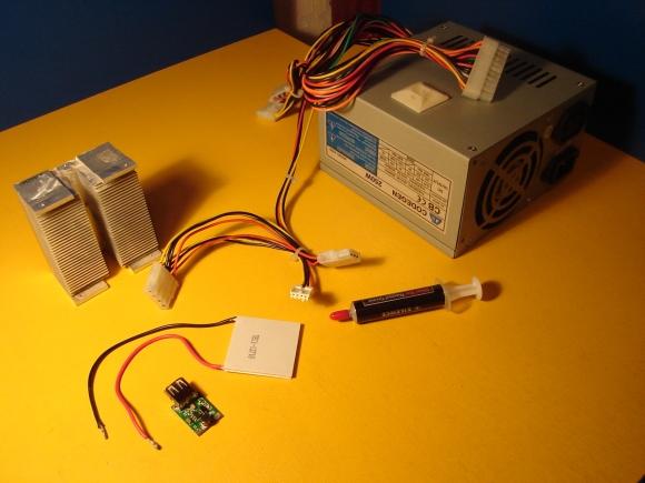 комплектующие для сборки электрогенератора на модуле пельтье